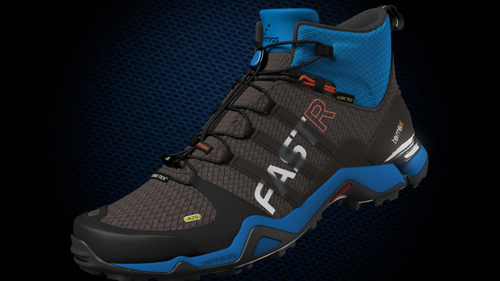 Produkt Rendering adidas terrex Schuh